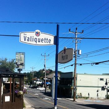pancarte de rue, ville de Sainte-Adèle