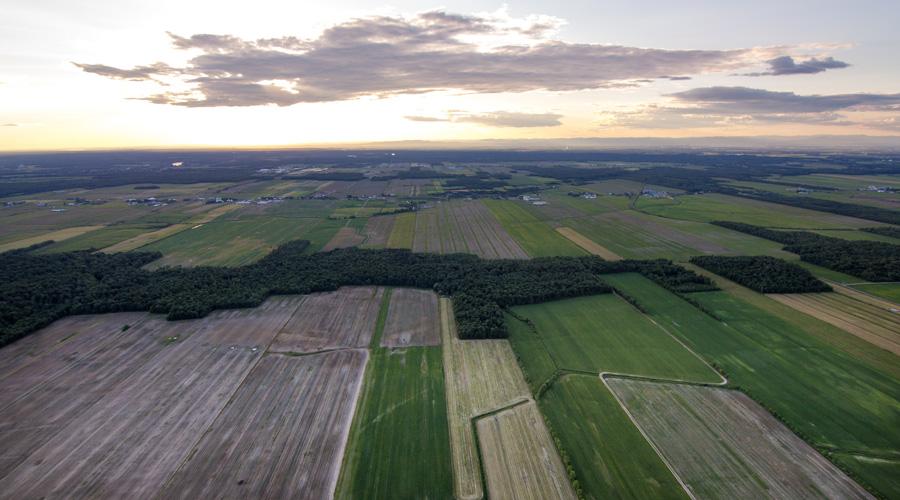 paysage montgolfière